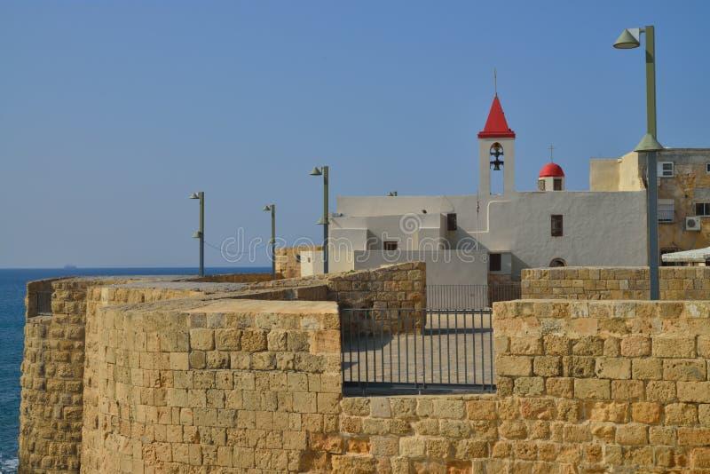 古老Akko以色列天主教 库存图片