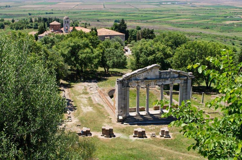 古老Apollonia,阿尔巴尼亚废墟  免版税图库摄影