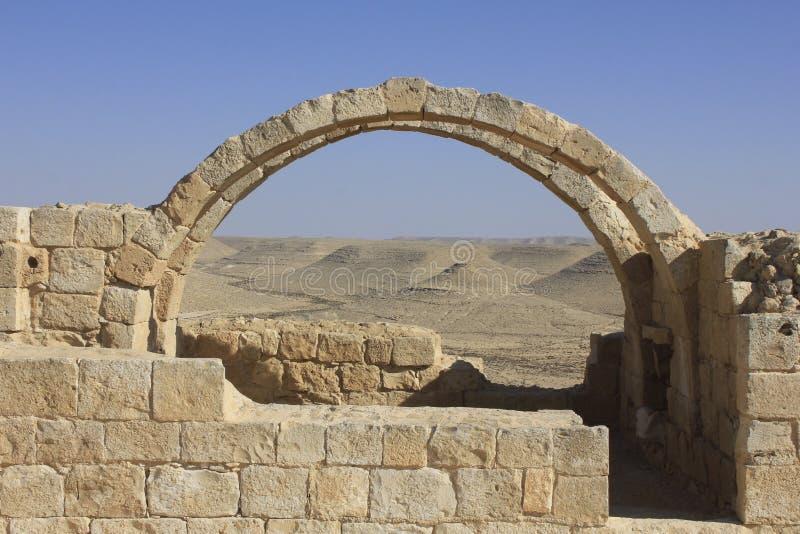 古老Avdat罗马维拉, Nabatean市 库存图片
