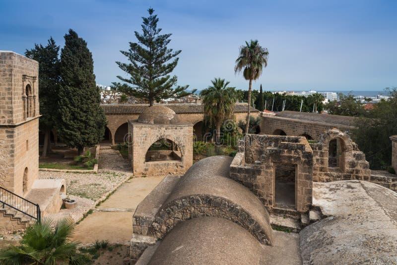 古老Ayia Napa修道院塞浦路斯 库存图片