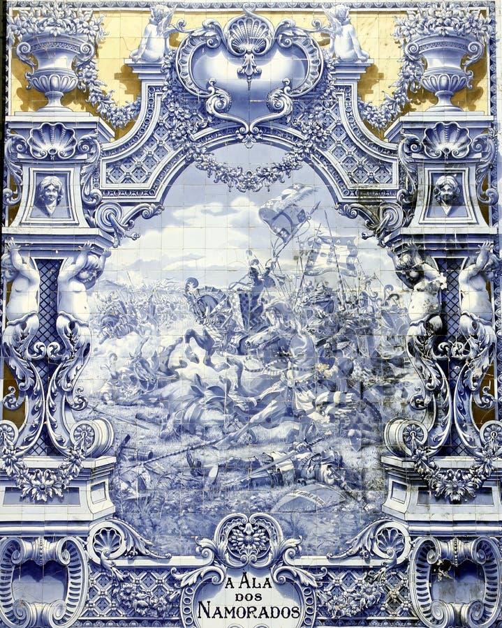 古老azulejo里斯本 库存照片