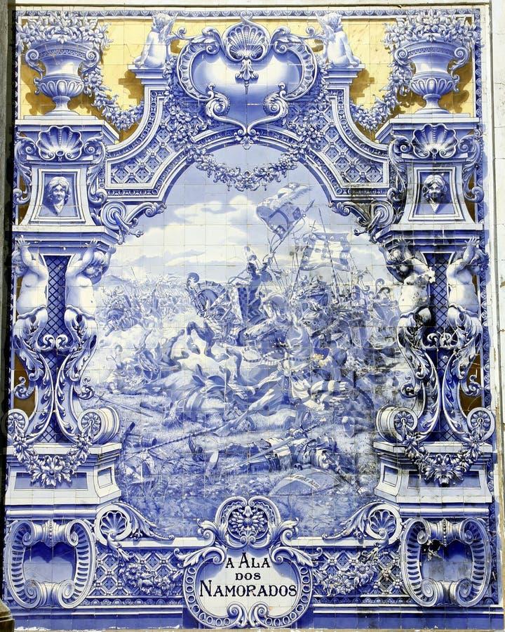 古老azulejo里斯本 免版税图库摄影