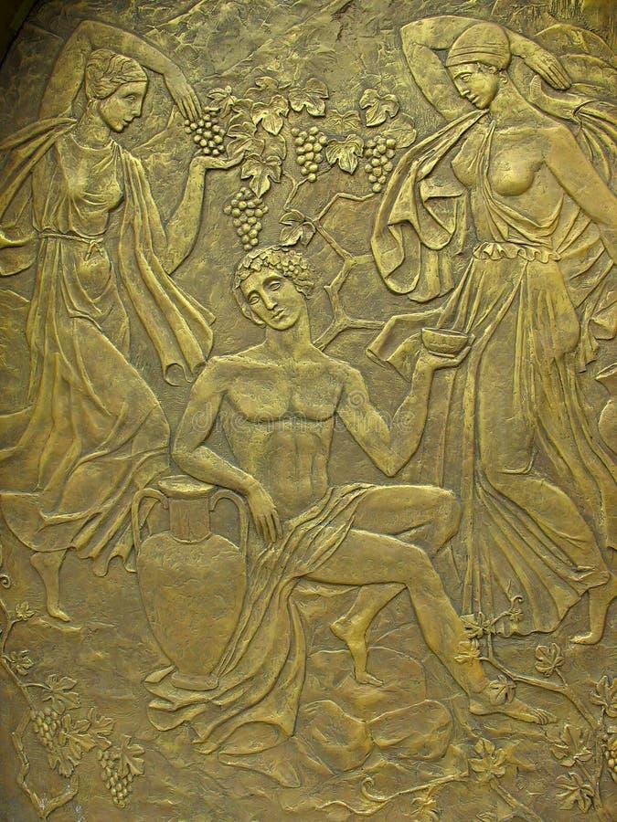 古老bas基本类型铜神话替补 库存照片