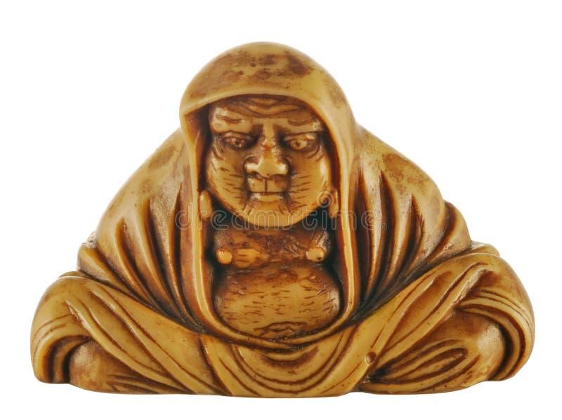 古老bodhidharma小雕象 免版税图库摄影