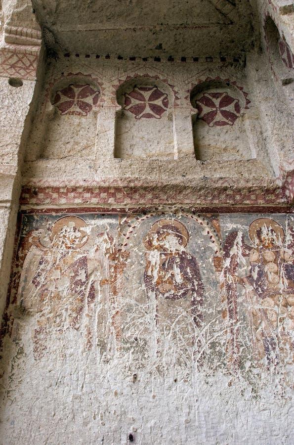 古老cappadocia壁画 免版税库存照片