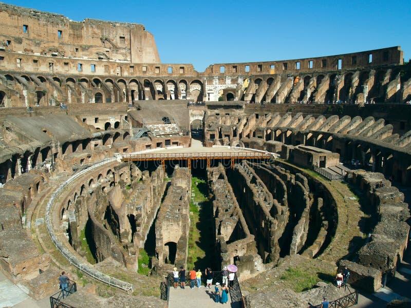 古老colosseum罗马 免版税图库摄影