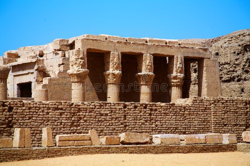 古老edfu埃及horus寺庙 库存图片