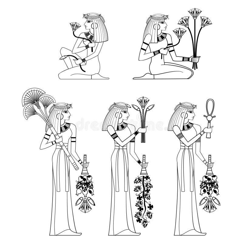古老egypyt装饰和元素 向量例证