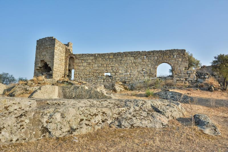 古老Herakleia废墟在土耳其 免版税库存图片