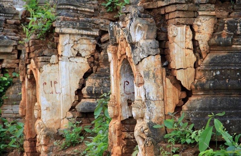 古老inthein缅甸破庙 库存照片