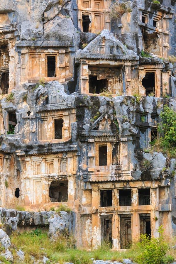 古老Lycian岩石裁减坟茔 免版税库存图片