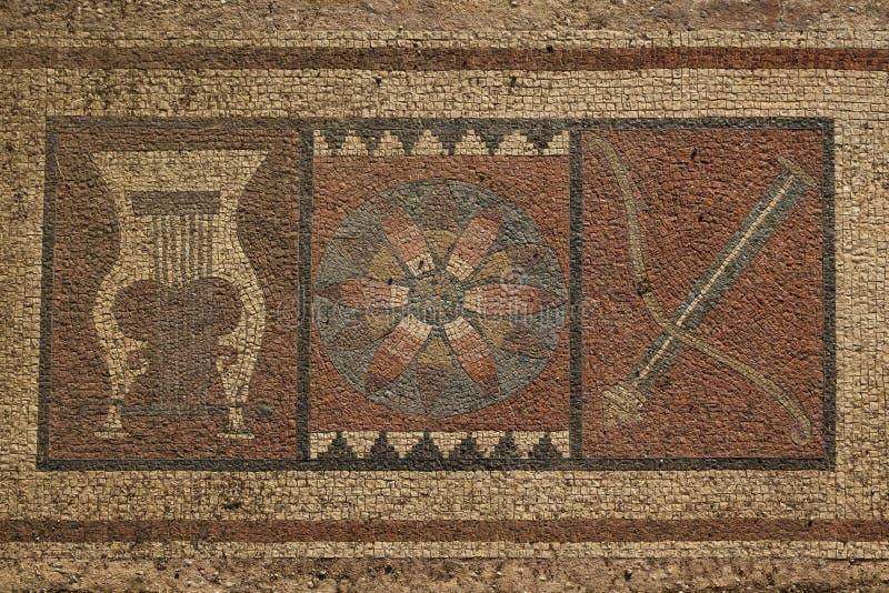 古老Lycian市Letoon的废墟 库存图片