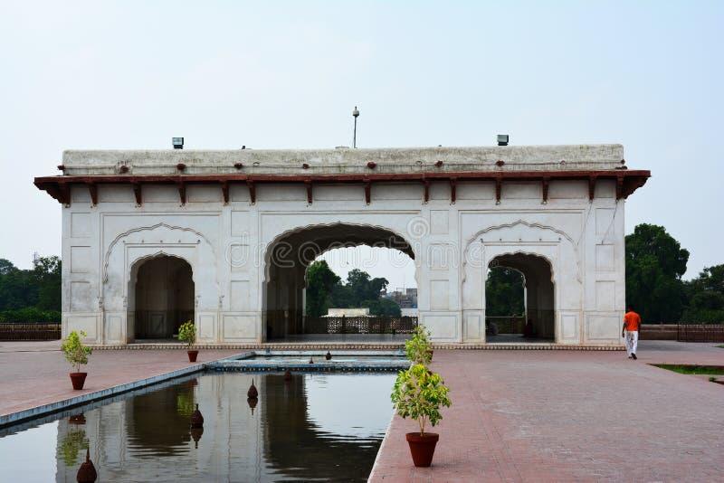 古老Shalimar庭院莫卧儿皇帝修建的拉合尔沙贾汗 库存照片