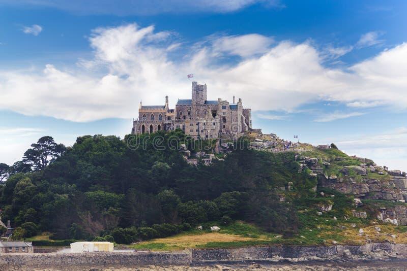 古老St Michaels登上城堡康沃尔郡英国 库存照片