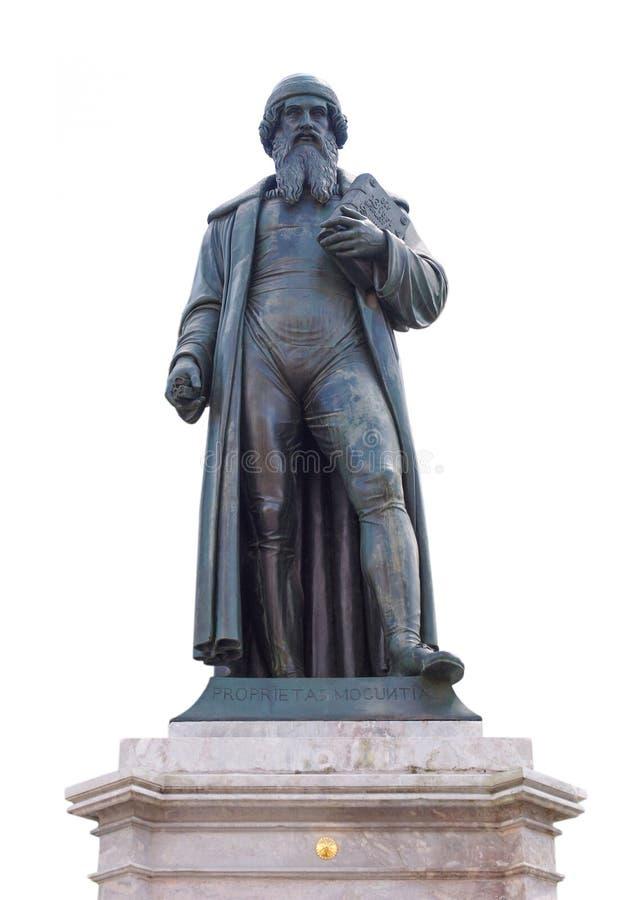 古腾堡纪念碑 库存照片