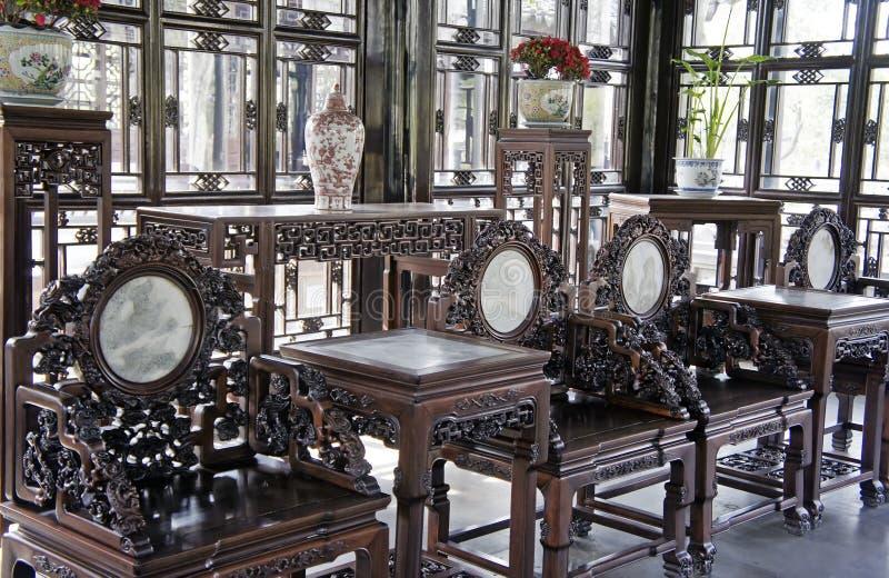 古色古香的中国家具 库存照片