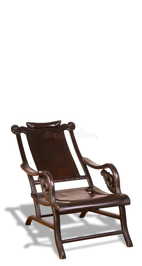 古色古香的中国月亮观察椅子。 免版税库存照片
