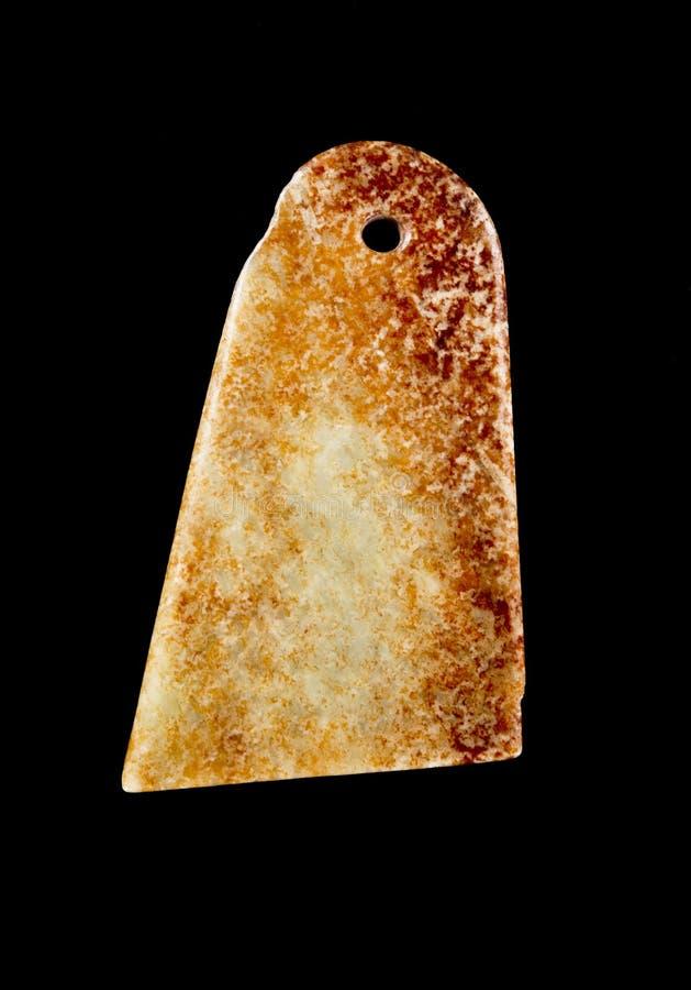 古色古香的中国玉knive的Kuei 库存图片
