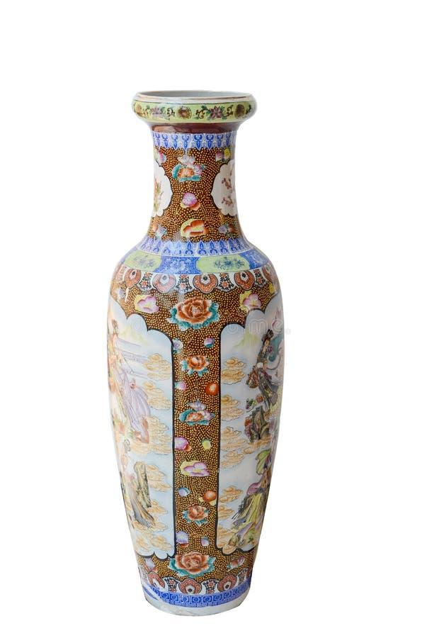 古色古香的中国瓷花瓶 免版税图库摄影