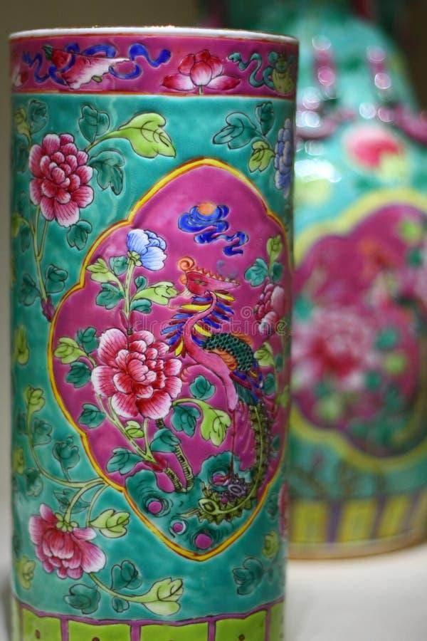 古色古香的中国瓷 库存图片