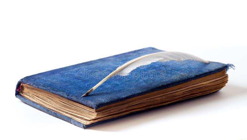 古色古香的书天鹅绒 免版税库存图片