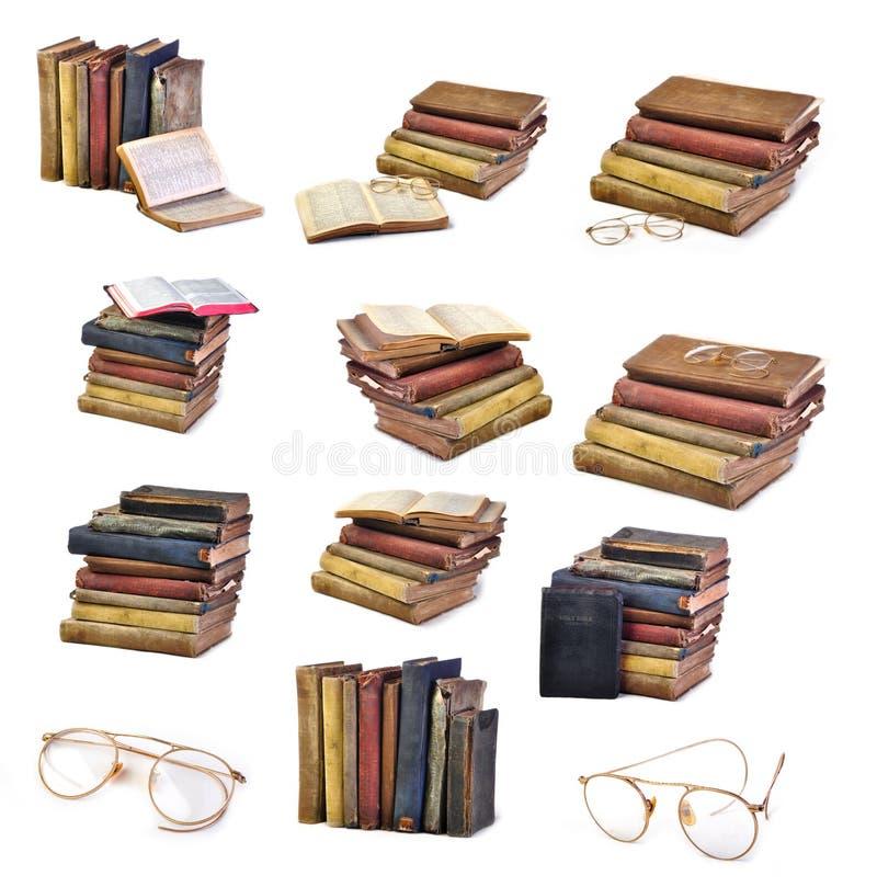 古色古香的书籍收藏葡萄酒 图库摄影