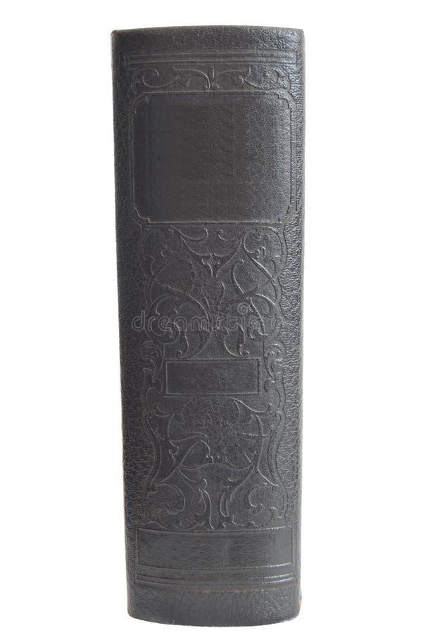 古色古香的书精装书查出的白色 免版税库存照片