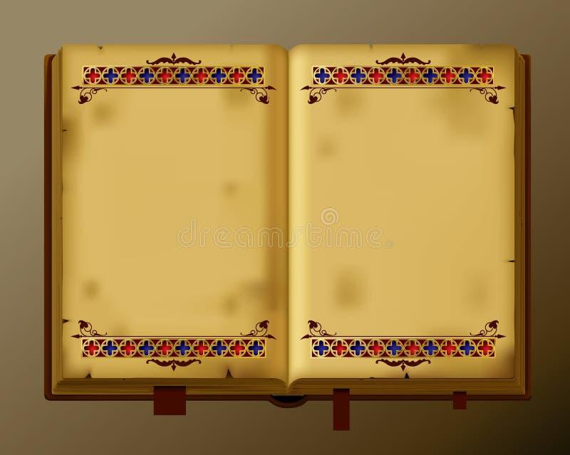 古色古香的书 皇族释放例证