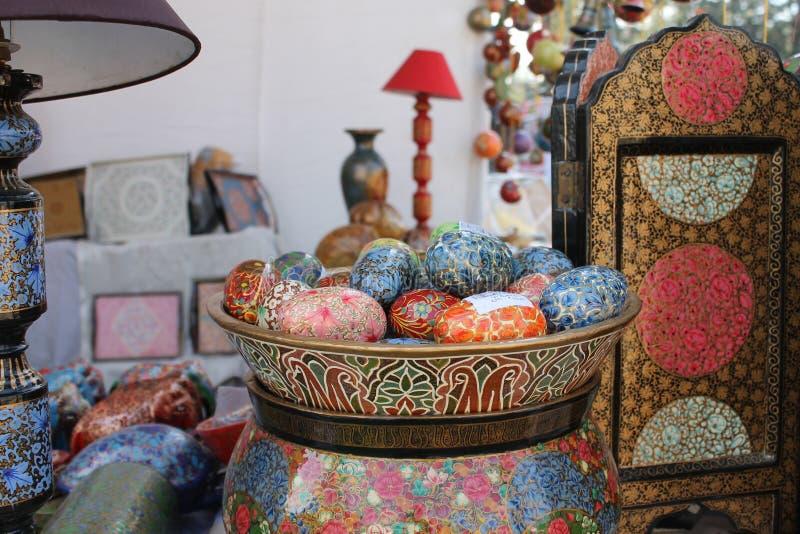 古色古香的五颜六色的装饰材料 免版税库存图片