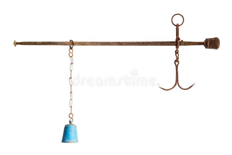 古色古香的亚洲杆秤 库存图片