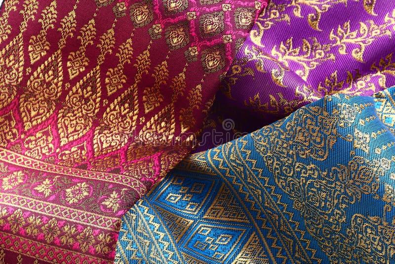 古色古香的亚洲纺织品 库存图片