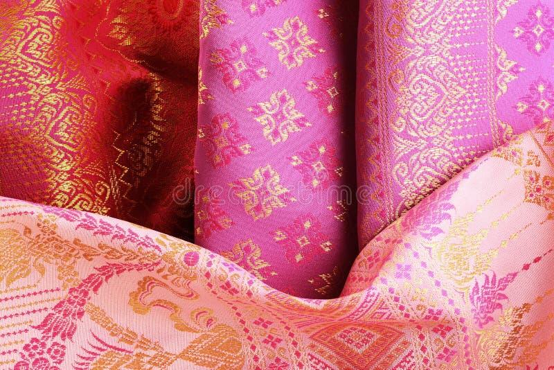 古色古香的亚洲纺织品 库存照片