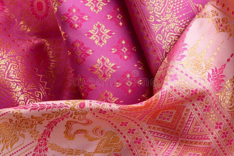 古色古香的亚洲纺织品 免版税库存照片