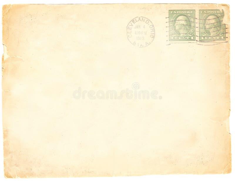 古色古香的信封纸 免版税库存图片