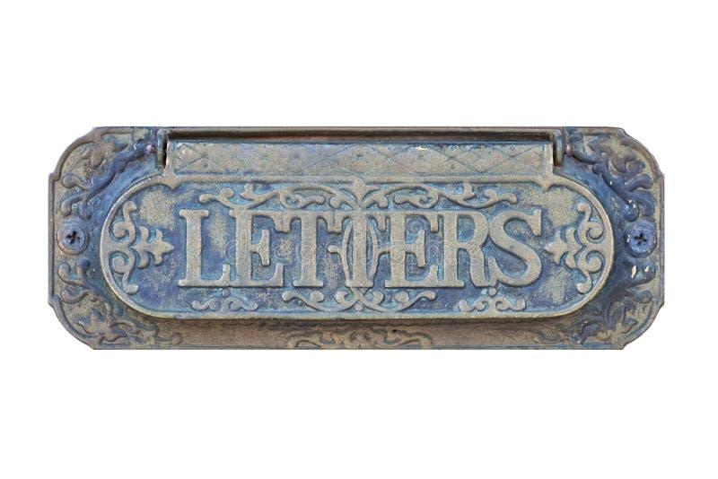 古色古香的信件邮箱 免版税库存图片