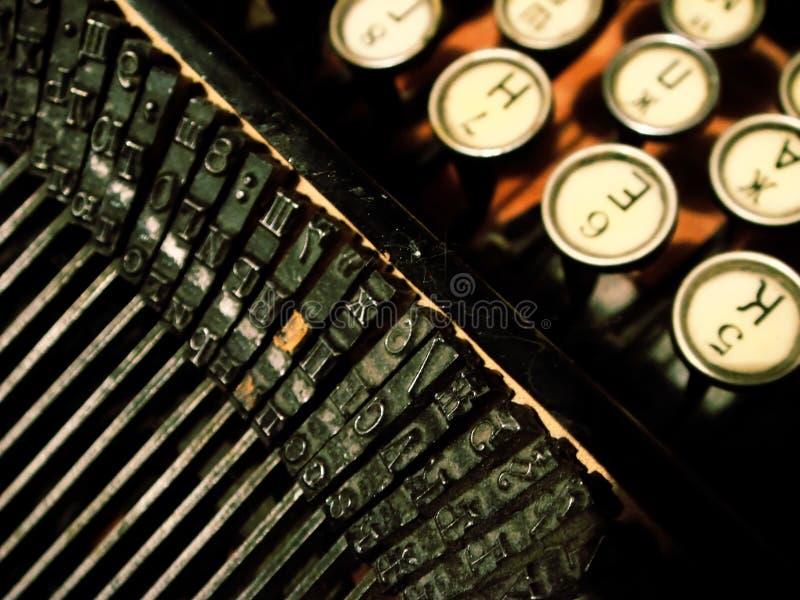 古色古香的光环打字机 库存图片