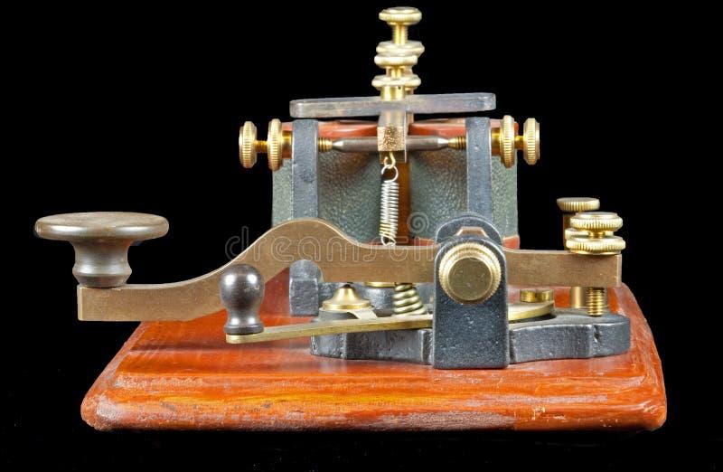 古色古香的关键莫尔斯 免版税库存照片