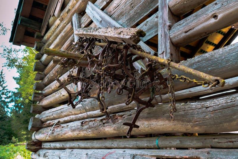 古色古香的农夫工具 免版税库存图片