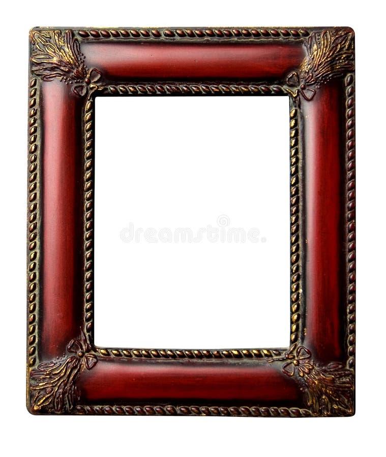 古色古香的剪报框架华丽照片红木 免版税库存图片