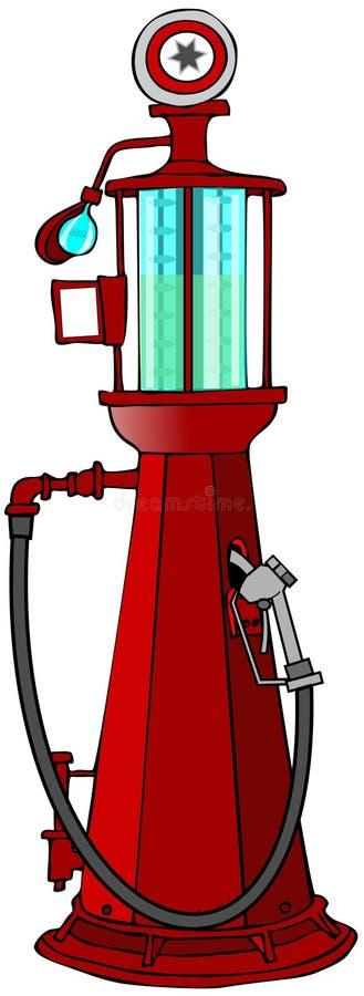 古色古香的加油泵 图库摄影