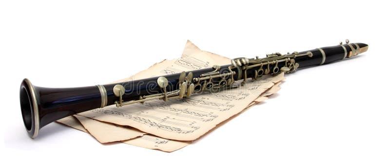 古色古香的单簧管 库存图片