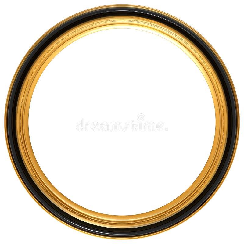 古色古香的圆的框架照片 向量例证