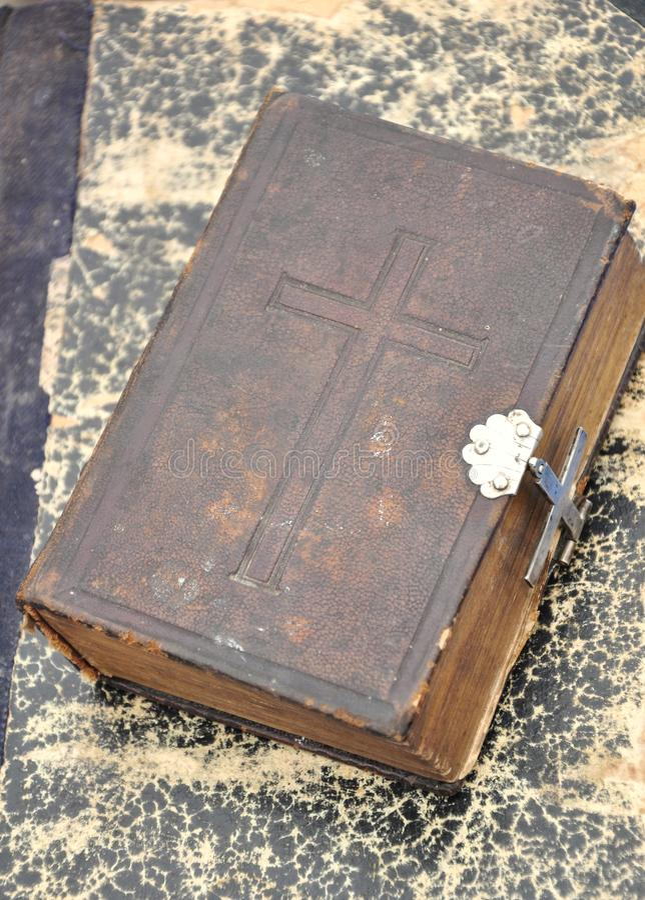 古色古香的圣经 库存图片