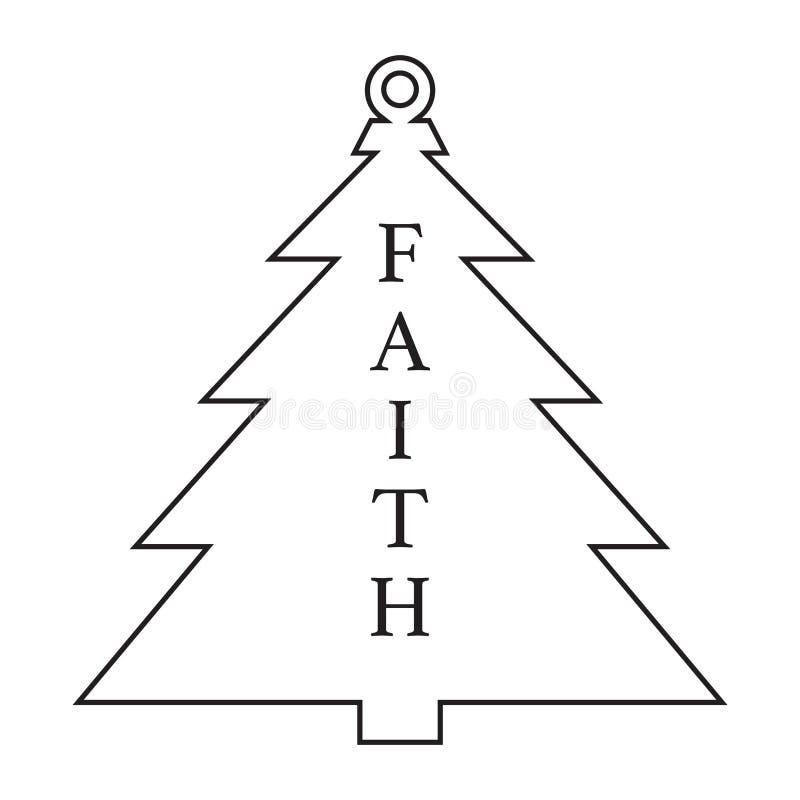 古色古香的圣诞树装饰品 皇族释放例证