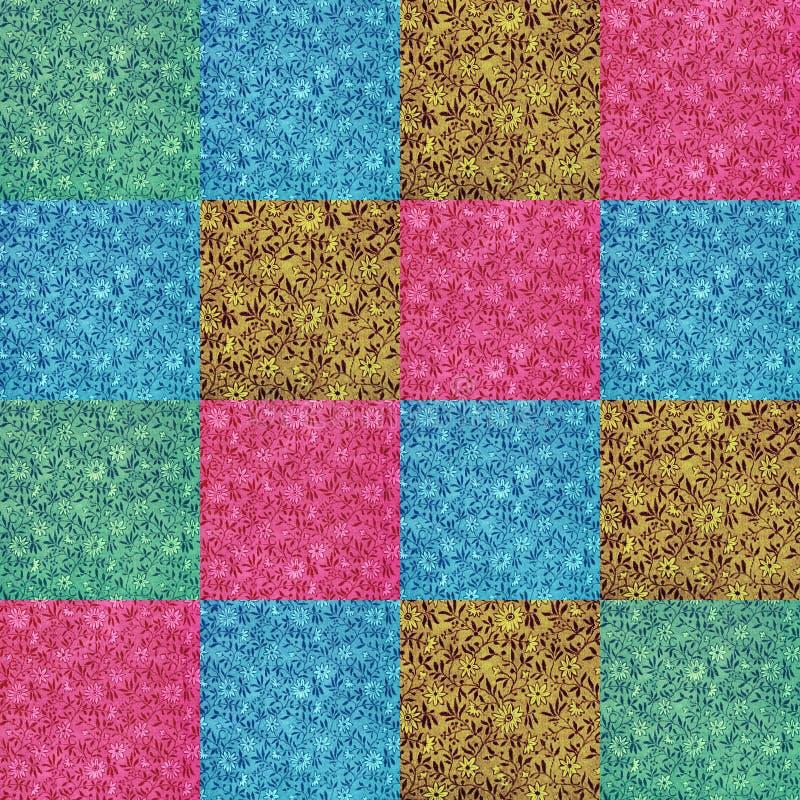 古色古香的在生动的颜色的花花卉模式 免版税库存图片