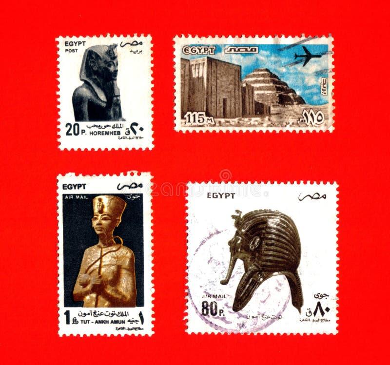 古色古香的埃及老印花税 免版税库存图片