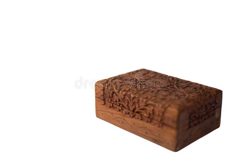 古色古香的塔罗牌木胸口 免版税库存照片