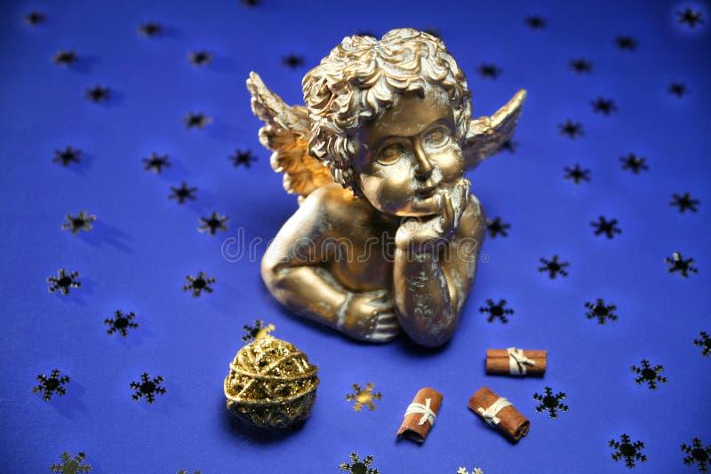 古色古香的天使 库存照片