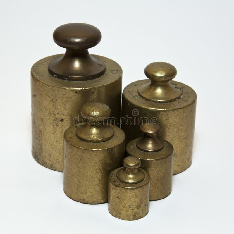 古色古香的定标重量 免版税库存照片