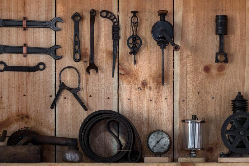 古色古香的工具显示 库存照片